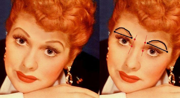 I Love Lucy Makeup I Love Lucy Love Lucy Arched Eyebrows