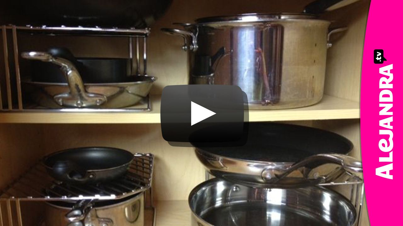 VIDEO Organizing Pots u0026 Pans VIDEO Organizing