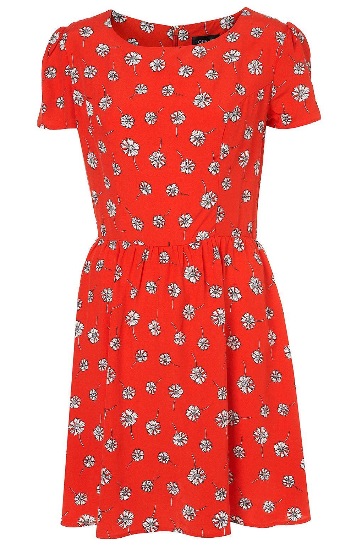 Daisy Print Flippy Dress - Dresses - Apparel - Topshop USA | Girl\'s ...