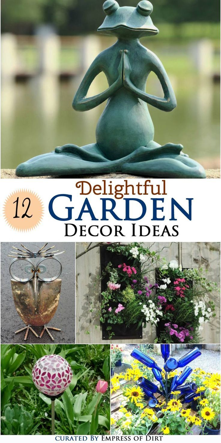 12 Delightful Garden Decor Ideas | Unique, Gardens and Garden art