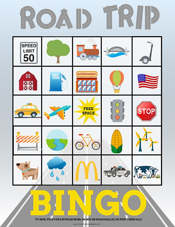 travel bingo cards for kids perfect for road trips top pins from