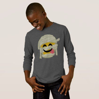 Funny Mummy Bleh Emoji Halloween T-Shirt - Halloween happyhalloween festival party holiday