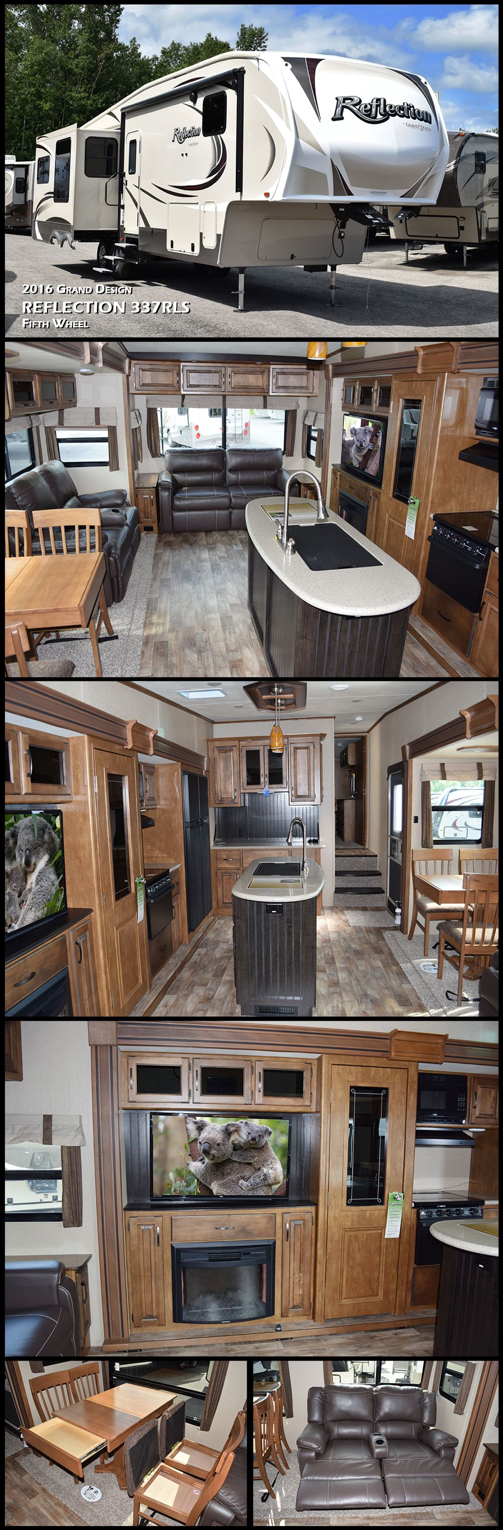 You Will Enjoy All The Comforts Of Home In A Convenient Rear Living Layout This 2016 REFLECTION Fifth Wheel By Grand Design