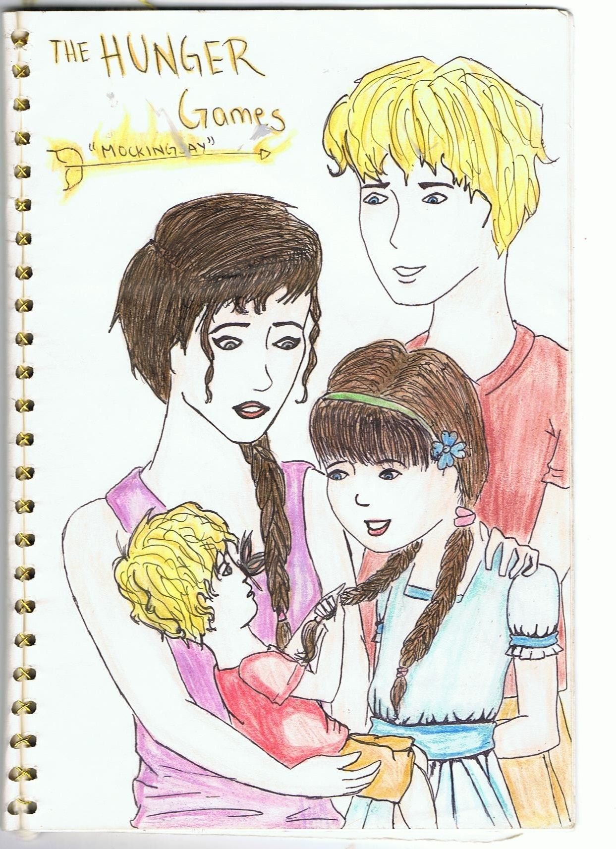drawing of the mellark family the girl on fire