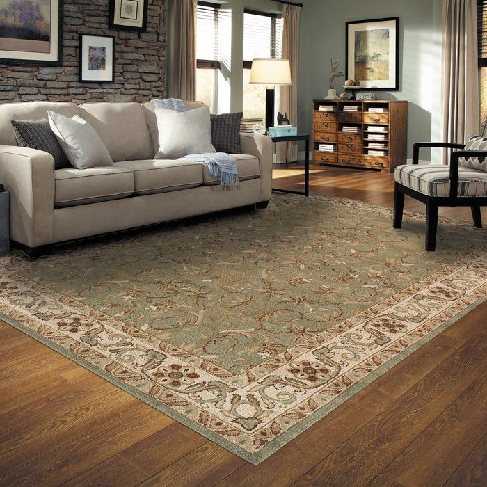 Heritage Green/Beige Area Rug Living rooms and Room