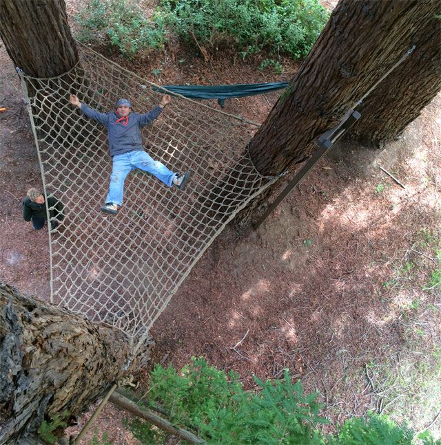 Mega tree hammock by barbara butler materials spotlight for Rope hammock plans