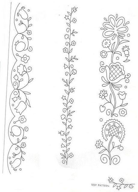 Peasant folk art embroidery patterns and