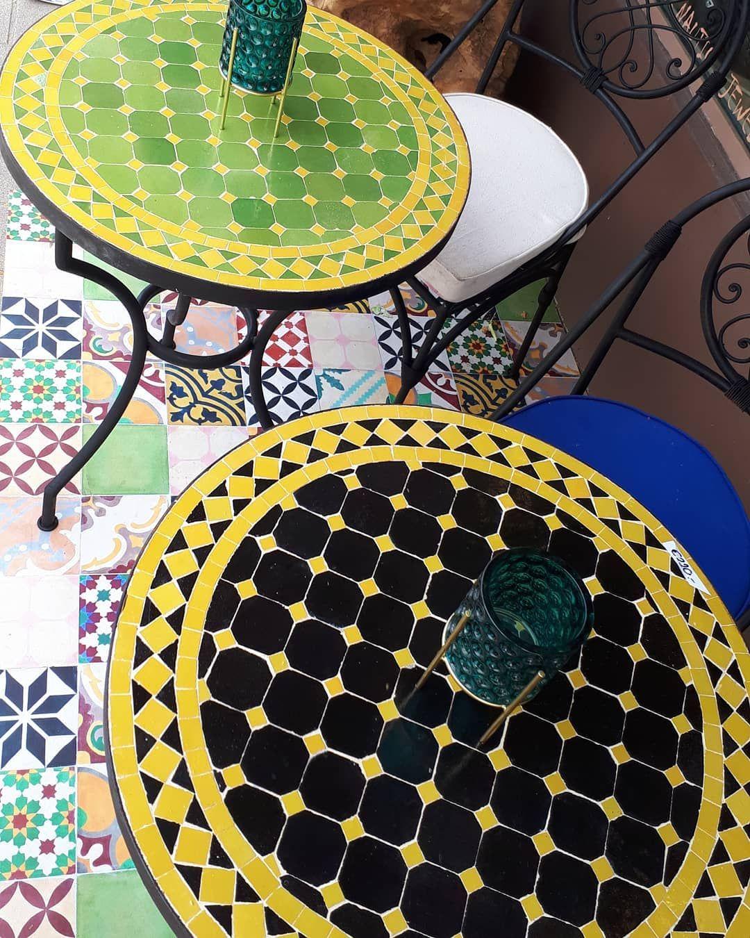 Atelierdessuedens Mosaiktische Gartentisch Tisch