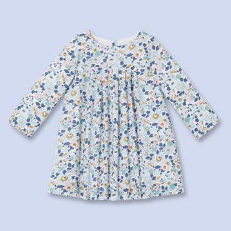 Robe en tissu Liberty BLEU/MULTICO Fille - Vêtement Bébé - Jacadi ...