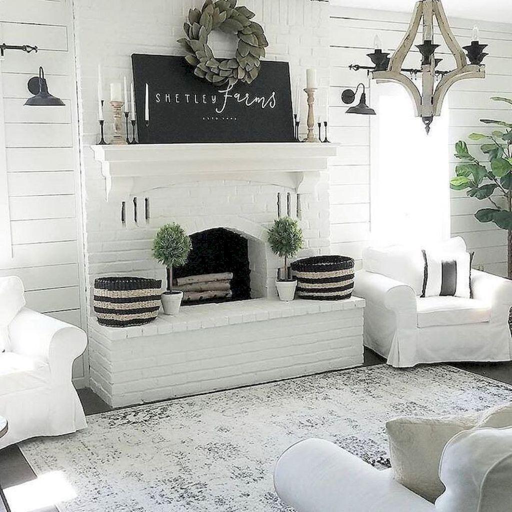 32 Popular Modern Farmhouse Fireplace Ideas Trend 2020 In