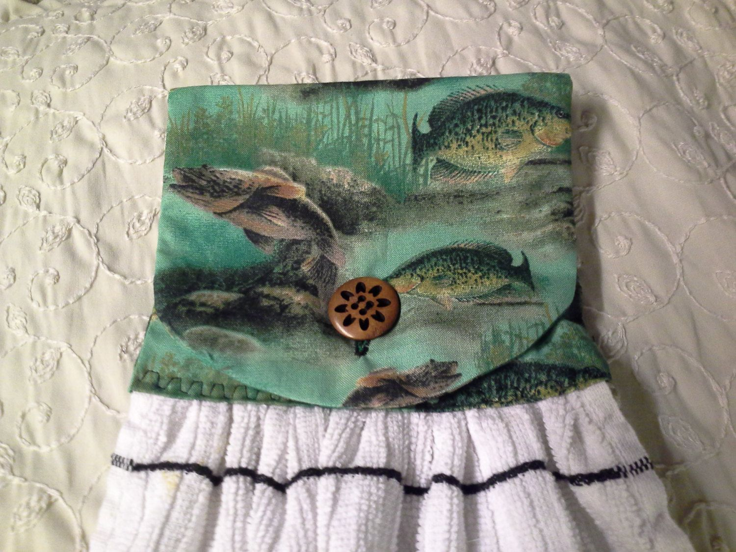hanging towel fish trout by mylittlegirlsshop on Etsy