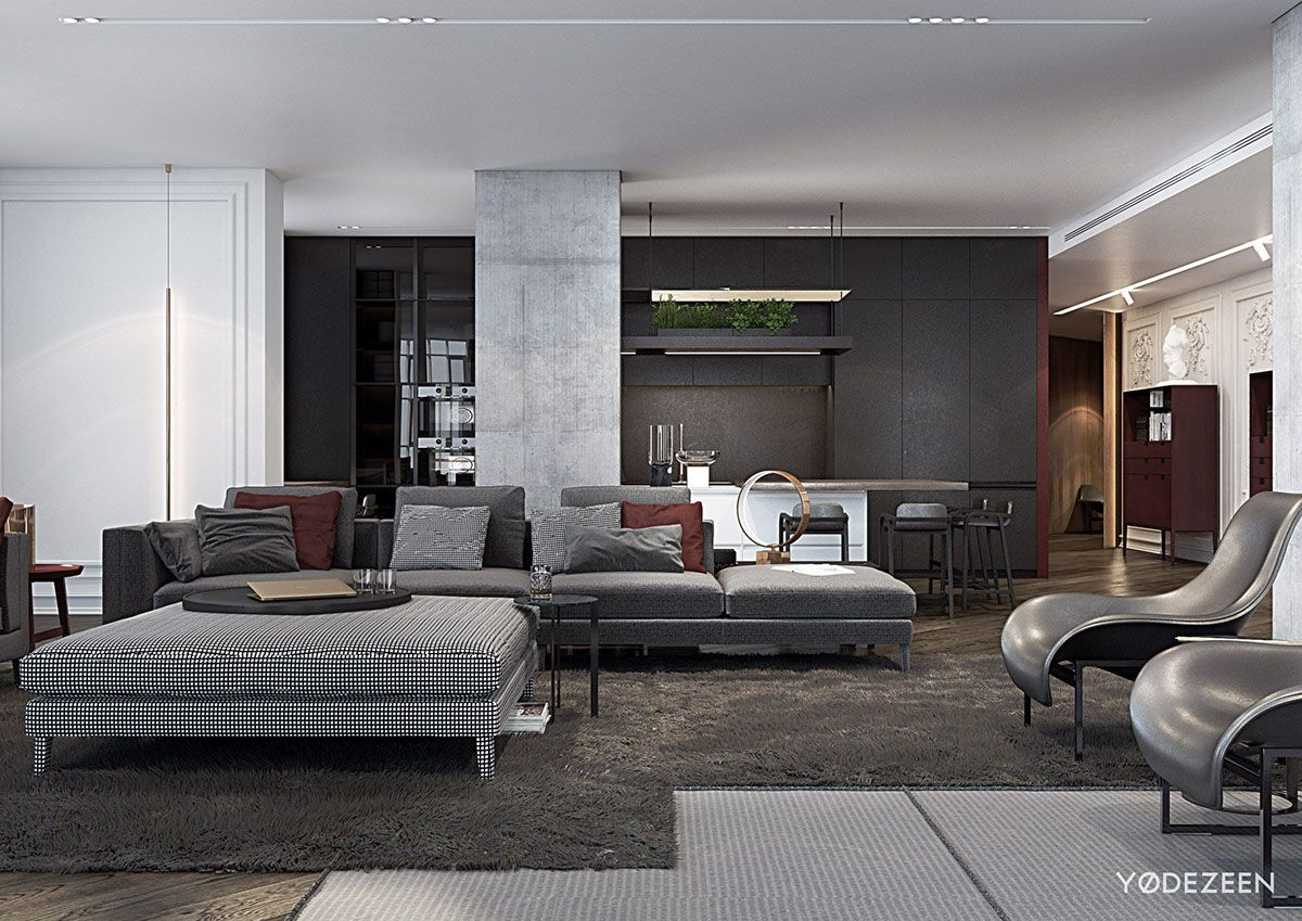 A Modern Apartment With Classical Features  Modern apartment