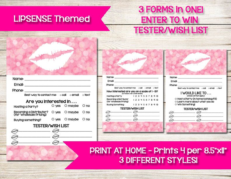 LIPSENSE Enter to Win Wish List Tester Raffle Ticket Drawing - raffle ticket