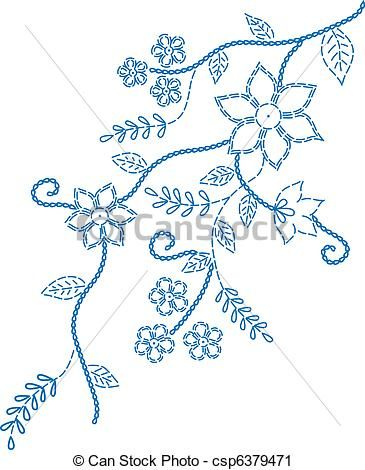 marcação, bordado, desenho - csp6379471