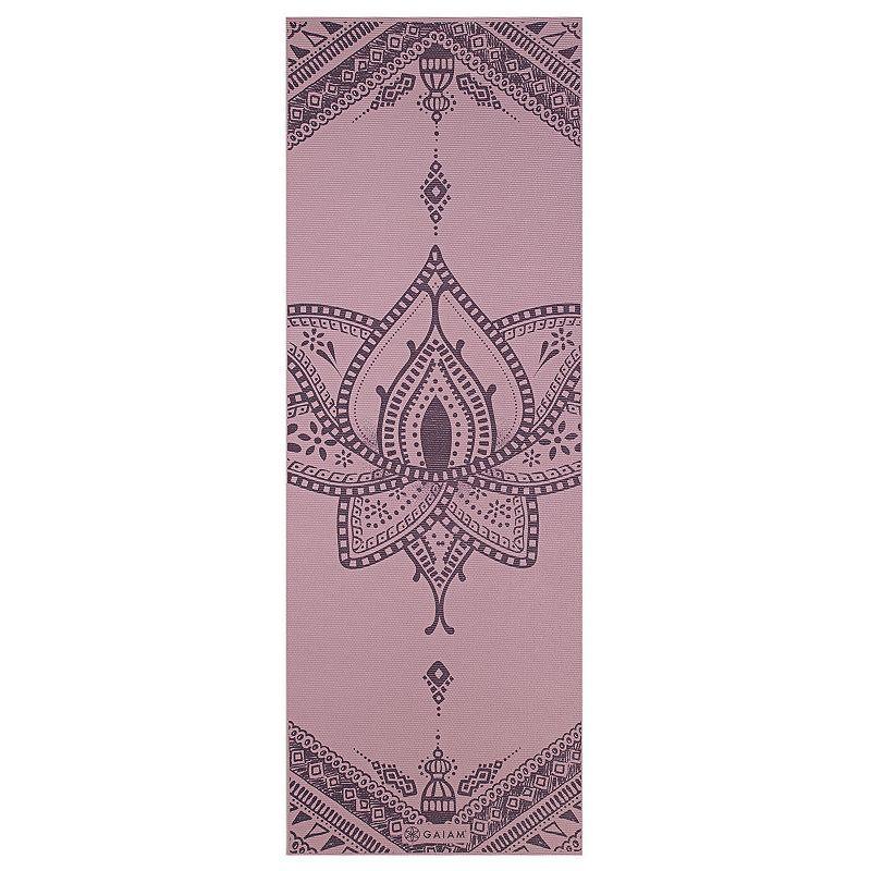 Gaiam 6mm Inner Peace Reversible Yoga Mat, Multicolor