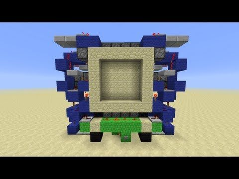 CNBs Supercharged Compact 4x4 Piston Door [Minecraft Redstone Tutorial] *Shes 3 Wide! & CNBs Supercharged Compact 4x4 Piston Door [Minecraft Redstone ...