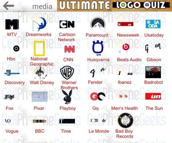 Logo Quiz Ultimate Media Ultimate Logo Quiz Answers Pinterest