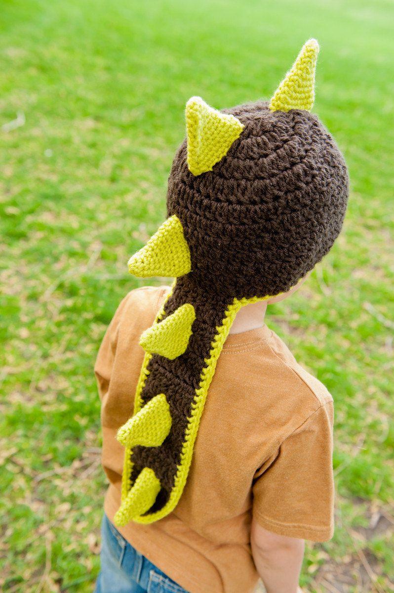 Instant Download Crochet Pattern - Dinosaur or Dragon Hat Pattern ...