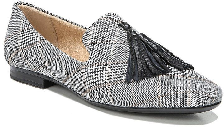 7439daf5eb2 Naturalizer Elly Plaid Fabric Tassel Loafers