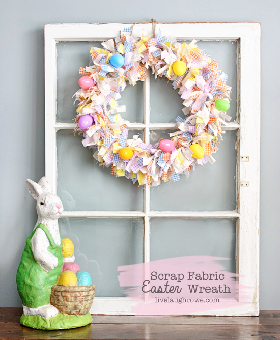Photo of Adorable Scrap Fabric Wreath to Perfect your Easter Decor!