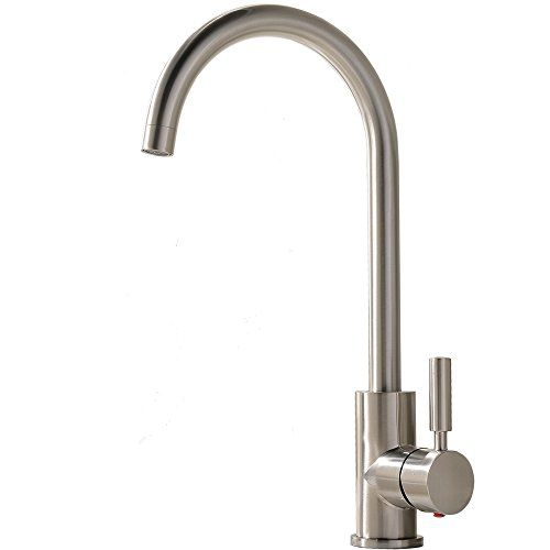 Comllen Best Commercial Brushed Nickel Stainless Steel Single Magnificent Single Handle Kitchen Faucet 2018
