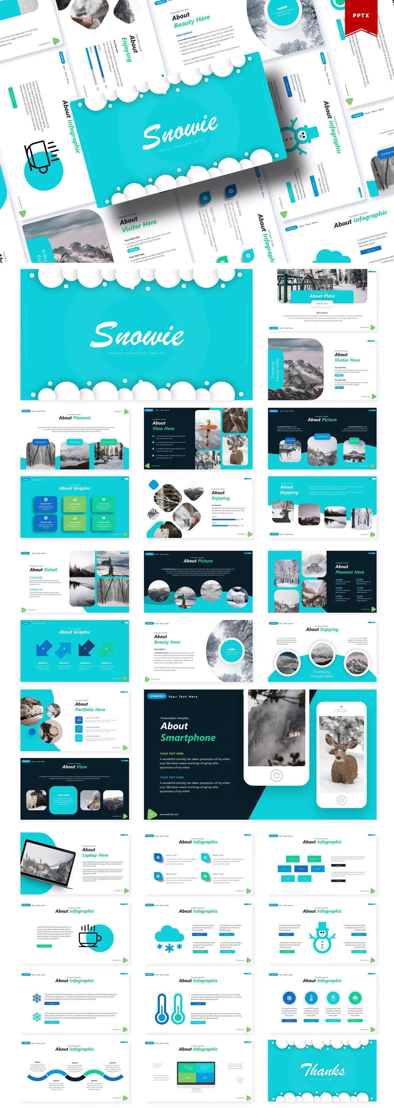 Snowie Powerpoint Template by Vunira on Envato Elements