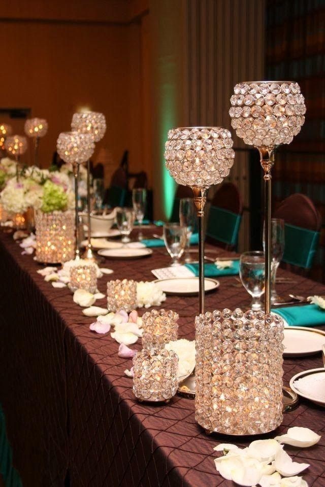 elegant non floral wedding centerpieces Google Search A