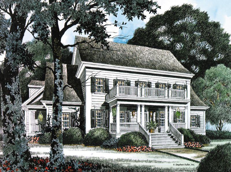 House Plan Cantwell Stephen Fuller Inc House Plans House Plans Farmhouse Southern House Plans