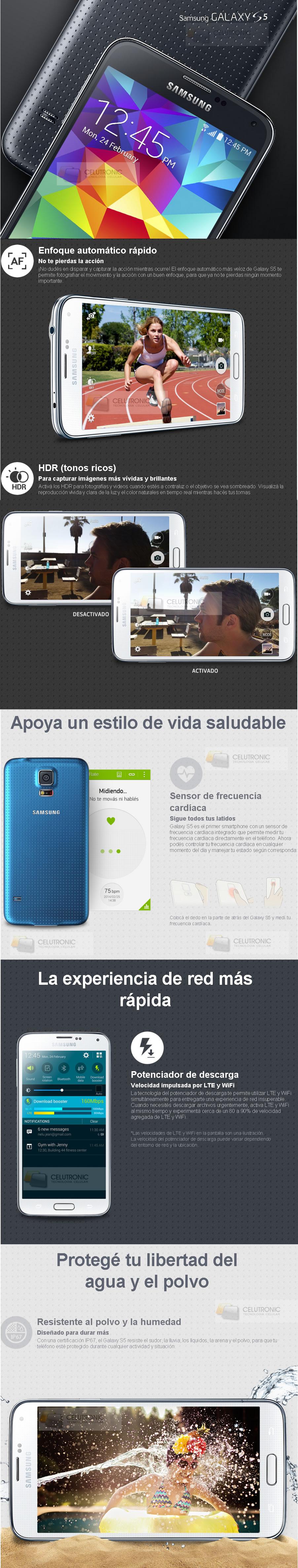 Samsung Galaxy S5 G900 Celular Libre 16gb Color Blanco Comprar Al
