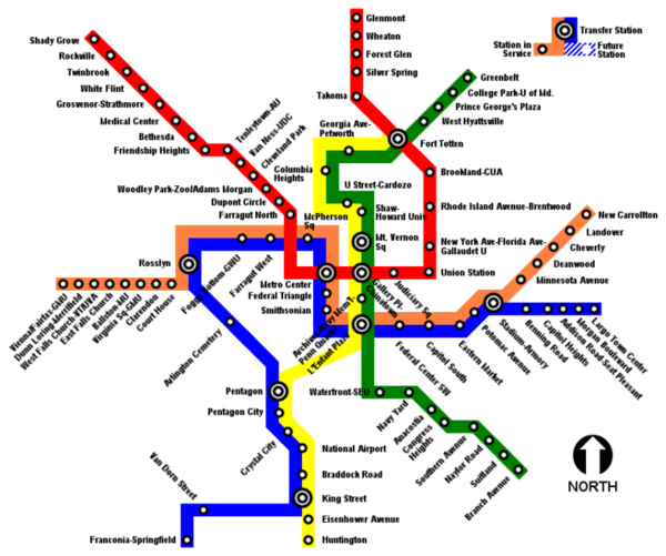 WMATA site; map, trip planner, online purchases. Unlimited 1 day