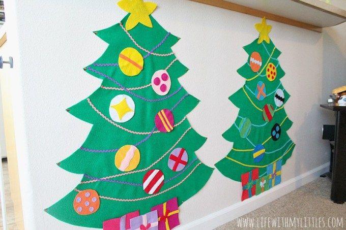 DIY Felt Christmas Trees - Life With My Littles