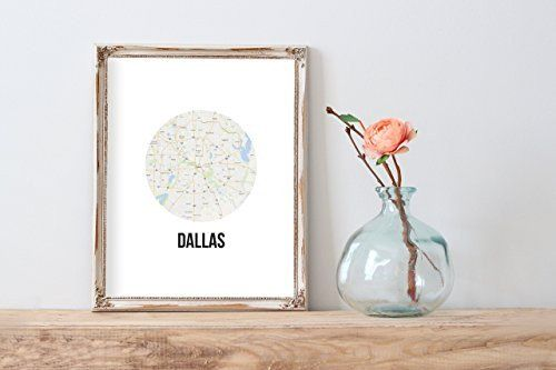Dallas Map Modern Home Print