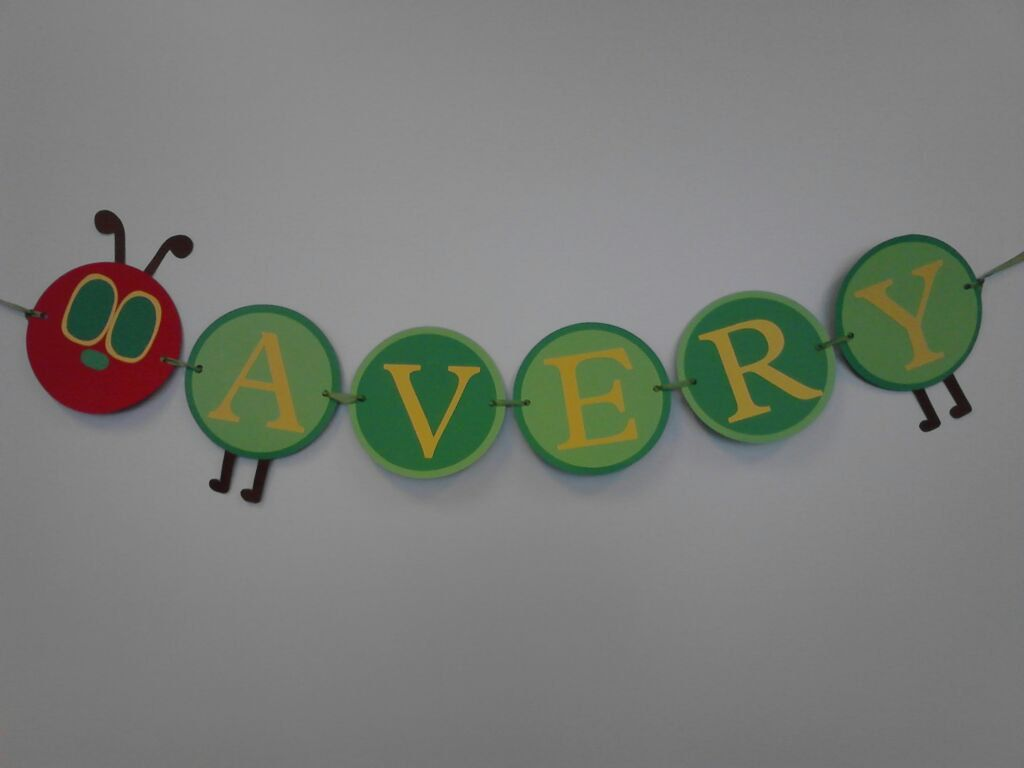 The Very Hungry Caterpillar Banner. $20.00, via Etsy.