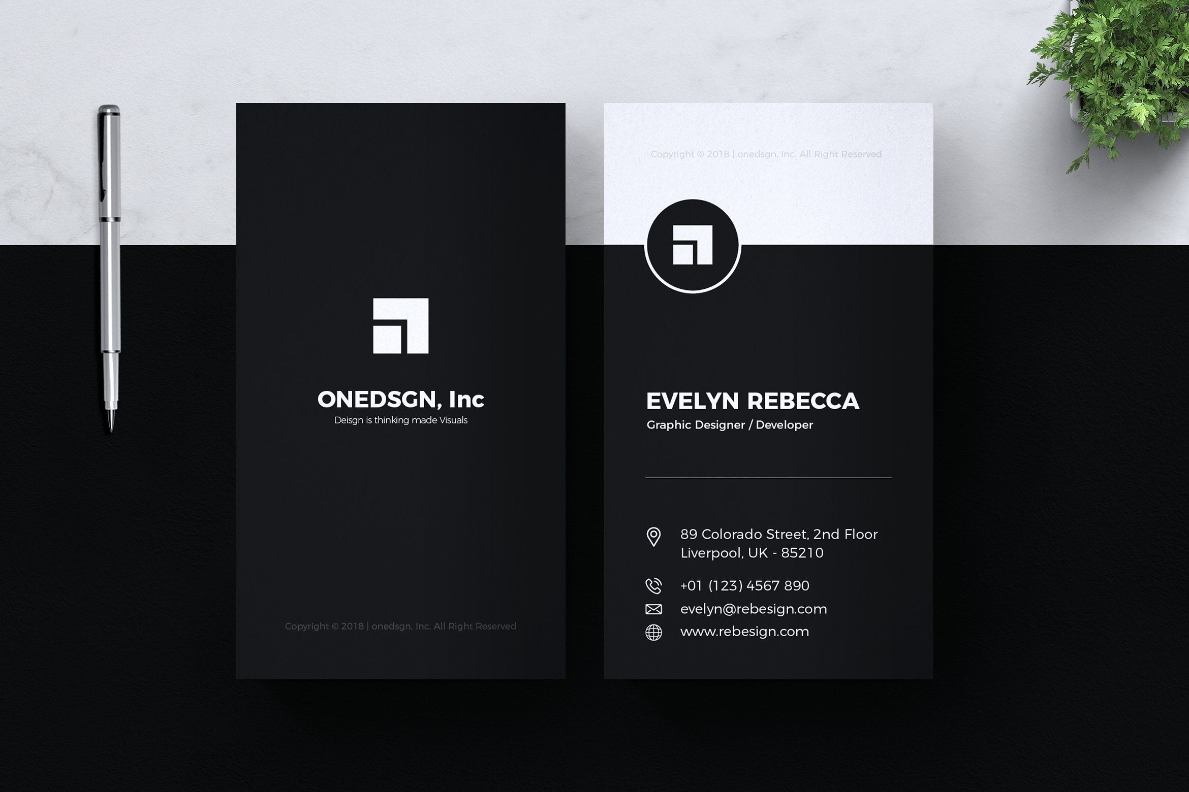 Minimalist Business Card Vol 02 Minimalist Business Cards Business Card Minimalist Vertical Business Card Template