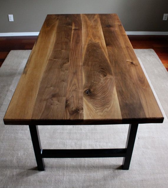 Rustic Natural Walnut Dining Table With Black By Earthandrust