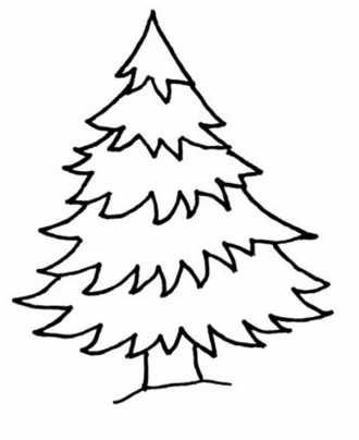 раскраска дерево ель для малышей скачать | Рождественские ...