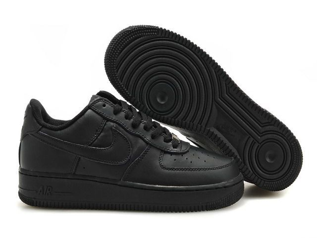 Men Air Force 1 25th Low Shoes All Black Nuktr291
