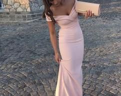 Off Shoulder Simple Prom Dress, Sexy Mermaid Prom Dresses, 2018 Long Evening Dress is part of Simple Party Clothes - inch (end of arm) 4, Delivery time within1520days, this cost is paid for prior shipping and sewers who would like to work extra time to finish this dress   Normal time Within 25 days (From May to Dec)  Around 30 days (From Jan to April), it's busy season together with spring festival holiday, so produce time will be long  5, Packing in order to save your shipping cost, each dress will be packed tightly with water proof bag   6, Shipping by UPS or DHL or some special airline  7, Payment Paypal, bank transfer, western union, money gram and so on  8, Return Policy blush prom dress  We will accept returns if dresses have quality problems, wrong delivery time, we also hold the right to refuse any unreasonable returns, such as wrong size you gave us or standard size which we made right, but we offer free modify   Please see following for the list of quality issues that are fully refundable for  Wrong Size, Wrong Colour, Wrong style, Damaged dress 100% Refund or remake one or return 50% payment to you, you keep the dress  In order for your return or exchange to be accepted, please carefully follow our guide  1  Contact us within 2 days of receiving the dress (please let us know if you have some exceptional case in advance)  2  Provide us with photos of the dress, to show evidence of damage or bad quality, this also applies for the size, or incorrect style and colour etc  3  The returned item must be in perfect condition (as new), you can try the dress on, but be sure not to stretch it or make any dirty marks, otherwise it will not be accepted   4  The tracking number of the returned item must be provided together with the reference code issued   5  If you prefer to exchange dresses, then a price difference will be charged if more expensive   6  You are required to pay for the shipping fee to return or exchange the dress   7  When you return the package to us, please pay attention to the following points, if not, customers should pay for the duty  we put all of our energy and mind into each dress, each of our dress are full of love, our long experience and skilled craftsmanship keep less return rate till now, but if there are our problems, we could return all your payment, for more details, please see our FAQ  9, Custom taxes  Except Unite States, most buyers need to pay customs taxes, in order to save cost for you, we have marked around $3040 00 on the invoice, then you just pay less taxes, please note that it's express help customs collect this payment, it is not shipping cost, as shipping cost has already paid before sending  Our advantage  We do long time dresses for some famous brands, we also make dresses for designers in European and USA client, please trust us, our strong team could make sure each dress will be your dream dresses