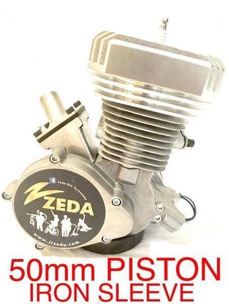 Motorized Bicycle 50mm Piston Iron Sleeve Case Reed Motor For