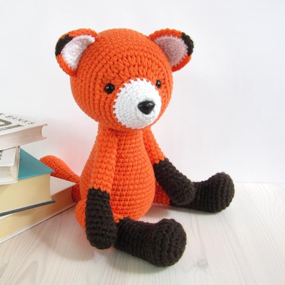 15 Crochet Fox Patterns - Crochet News | 1000x1000