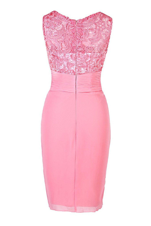Ellames Women\'s Short Lace Bridesmaid Dress Mother of the Bride ...