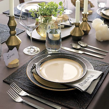 Casablanca Square Placemat Dining Table Decor Thanksgiving Table Settings Crate And Barrel