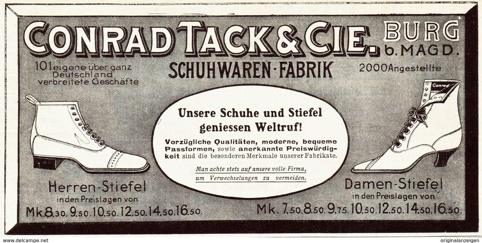 on sale 4e9a6 dbad3 Original-Werbung/Anzeige 1907 - SCHUHE / STIEFEL - CONRAD ...