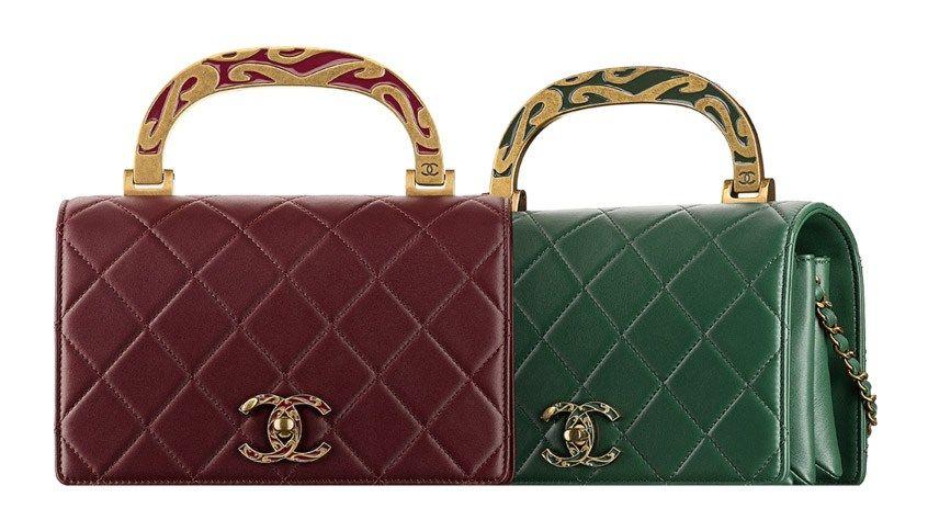 008b0dcbc0f4 Chanel Calfskin Flap Bag with Enamel Handle | Chanel. Any ...