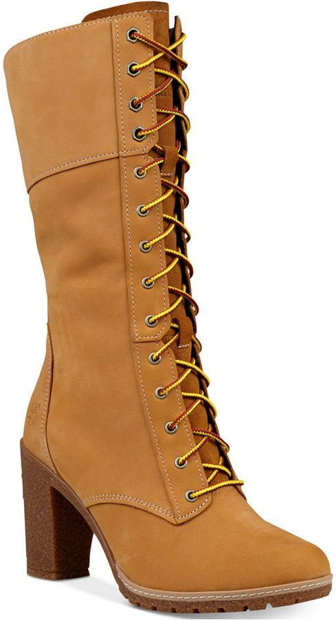 7fc4d8391a2 Timberland Women s Glacy Lace-Up Block-Heel Boots Women s Shoes ...