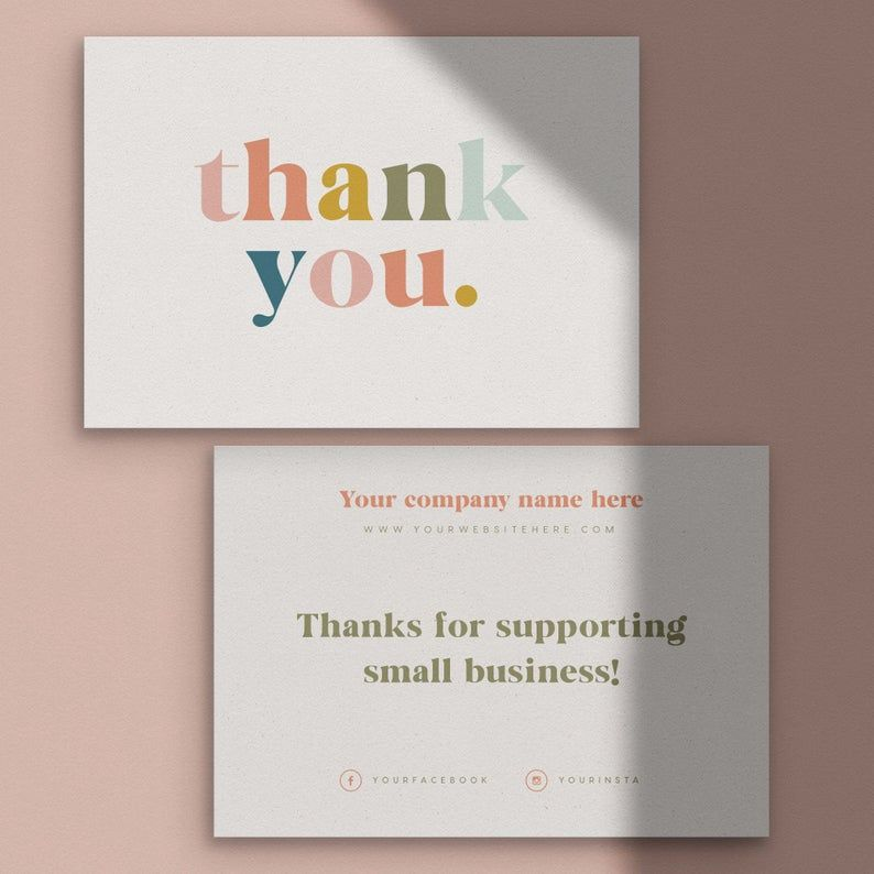 thank you for your order cards business stationery