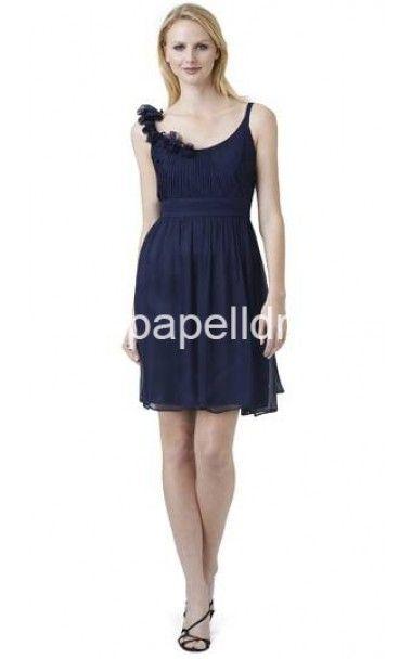 Midnight Adrianna Papell Rosette Chiffon Dress SaleOutlet