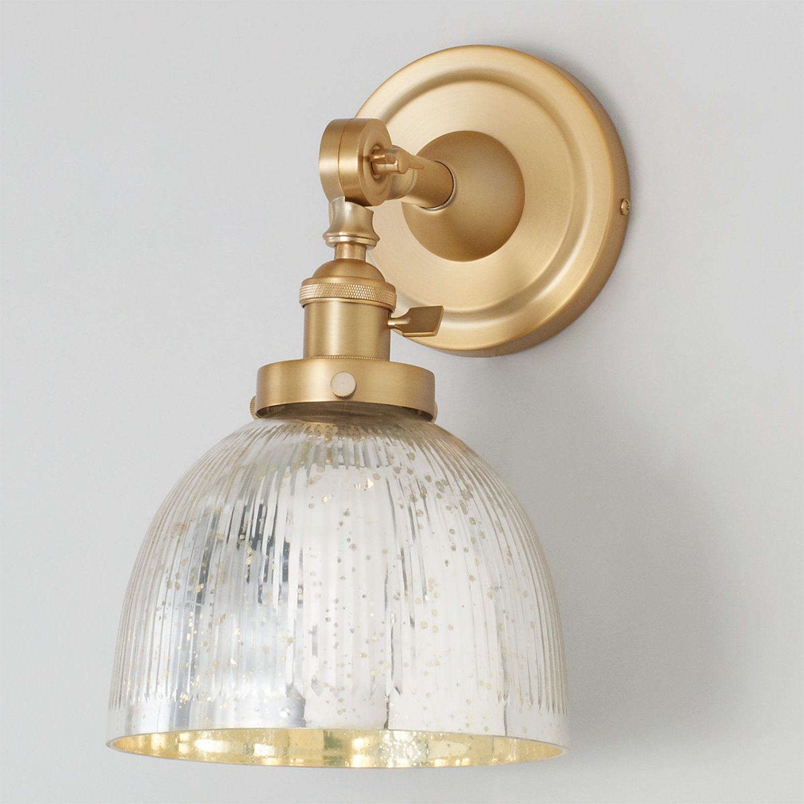 Mercury Glass Dome Single Swivel Sconce Sconces Glass Ceiling