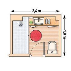 Planos para cuartos de baño pequeños 3 … | Bathroom layout ...