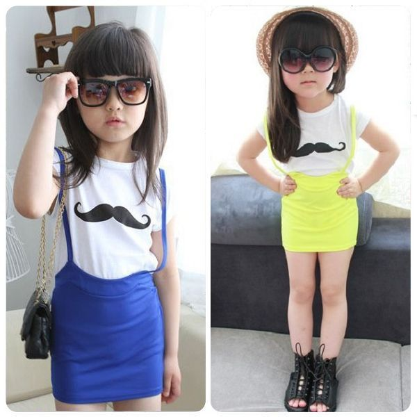 Neon color dresses for kids